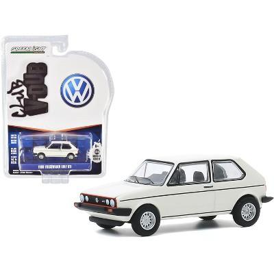 "1980 Volkswagen Golf GTI Alpine White ""Club Vee V-Dub"" Series 11 1/64 Diecast Model Car by Greenlight"