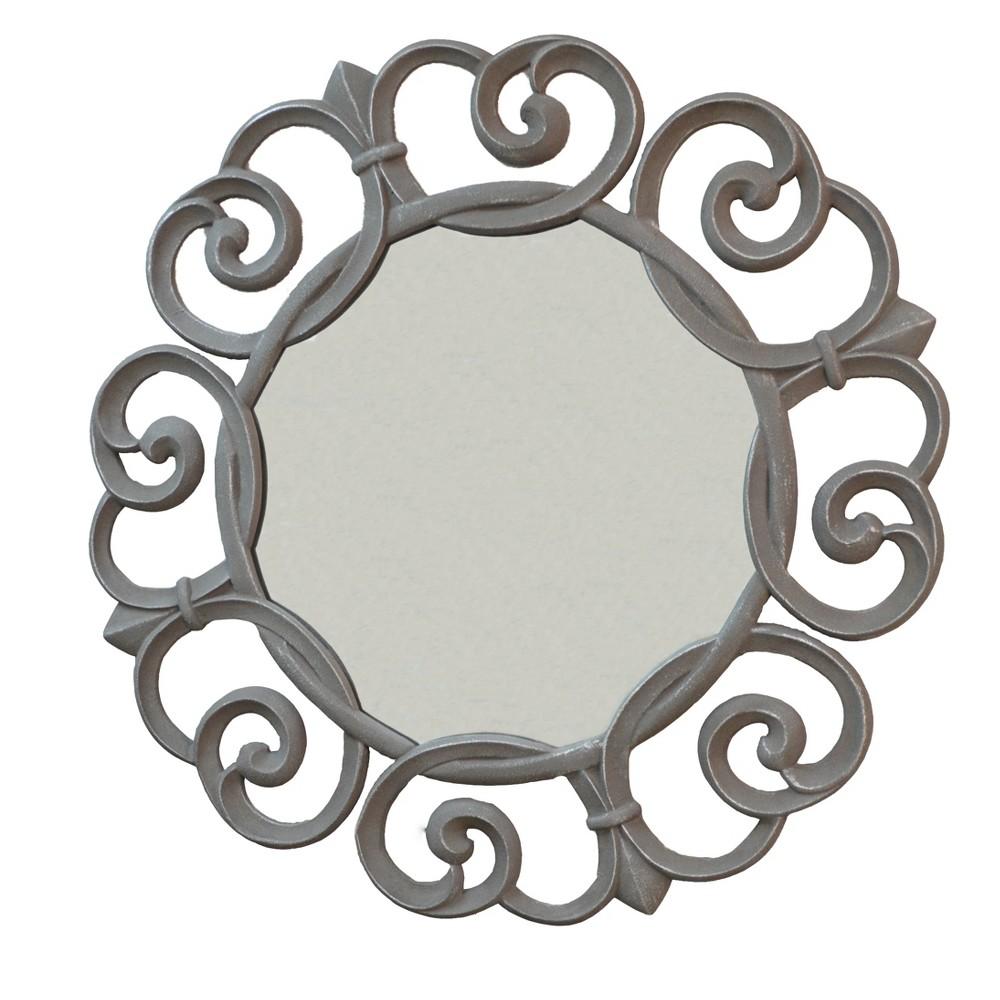 Image of Florh Round Mirror Frame Pewter Gray - Carolina Chair & Table