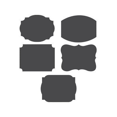 2ct Black Chalkboard Labels