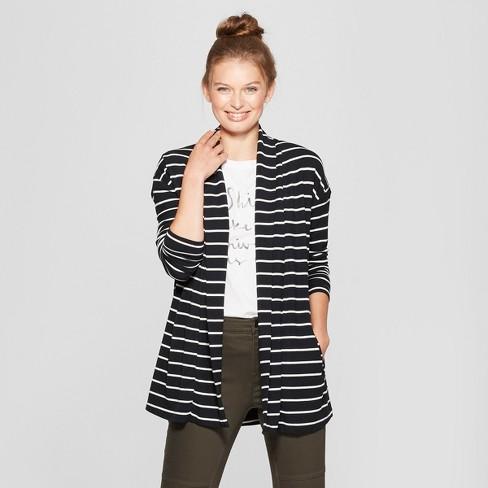 54b4dfa736 Women s Striped Open Knit Cardigan - A New Day  153   Target