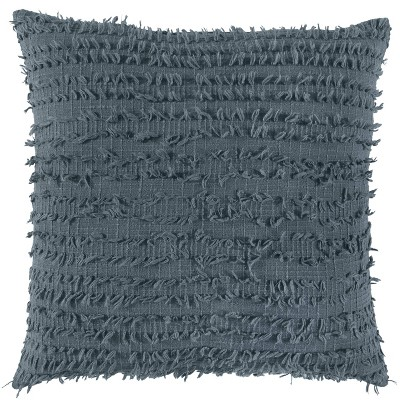 """20""""x20"""" Oversize Poly-Filled Solid Square Throw Pillow Slate Gray - Rizzy Home"""
