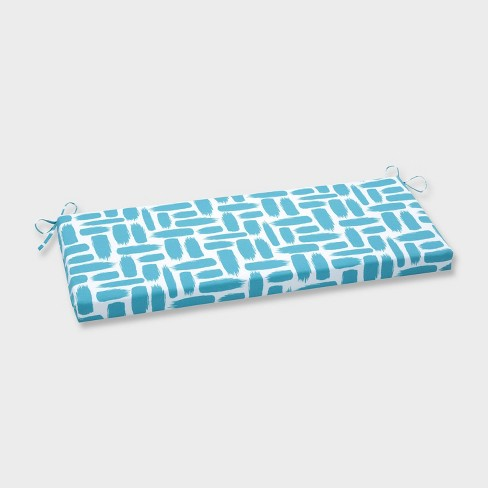 Baja Turquoise Outdoor Bench Cushion Blue - Pillow Perfect - image 1 of 1