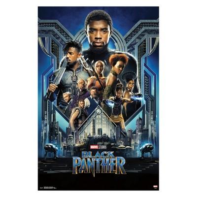 Black Panther Group One Sheet Unframed Wall Poster Print 34  x 22  - Trends International