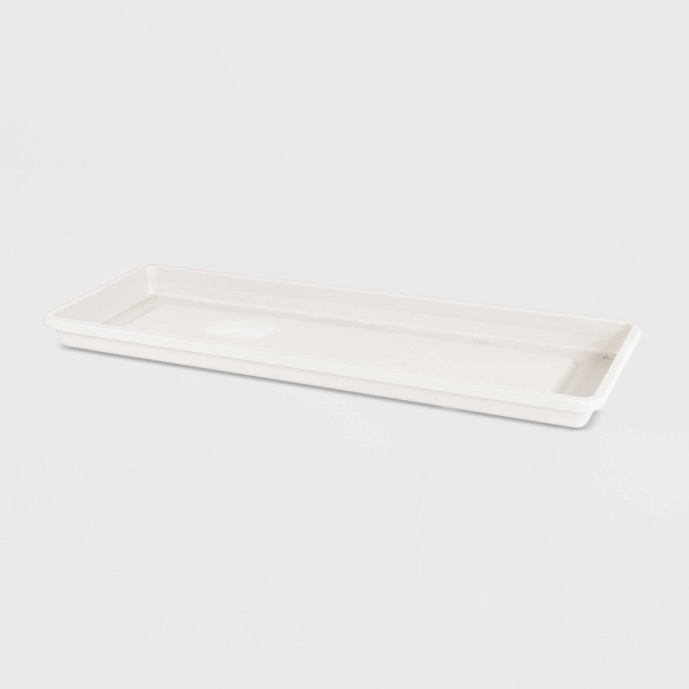 16 Terra Window Box Rectangular Plastic Saucer White - Bloem