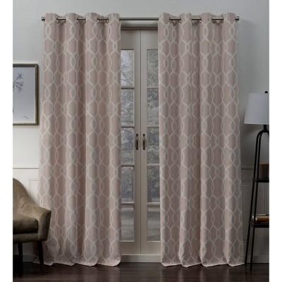 "96""x52"" Trilogi Grommet Top Blackout Window Curtain Panels Rose - Exclusive Home"
