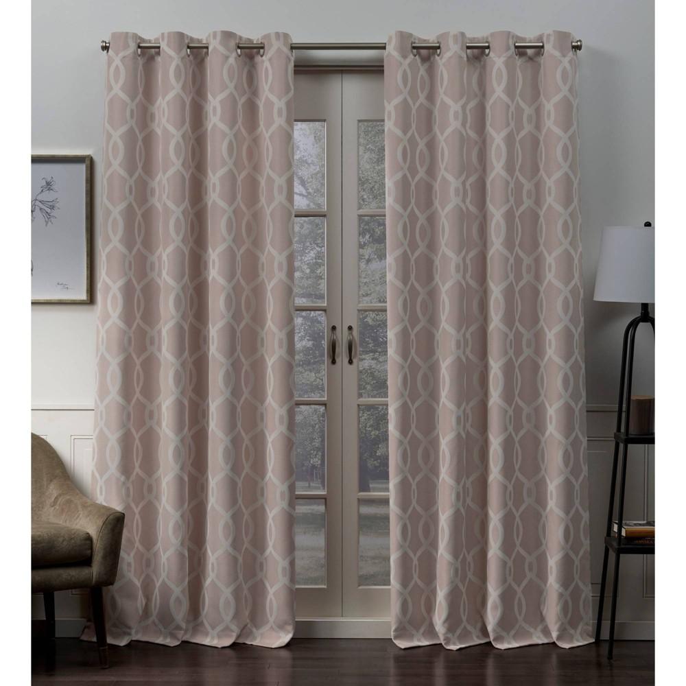 96 34 X52 34 Trilogi Grommet Top Blackout Window Curtain Panels Rose Exclusive Home