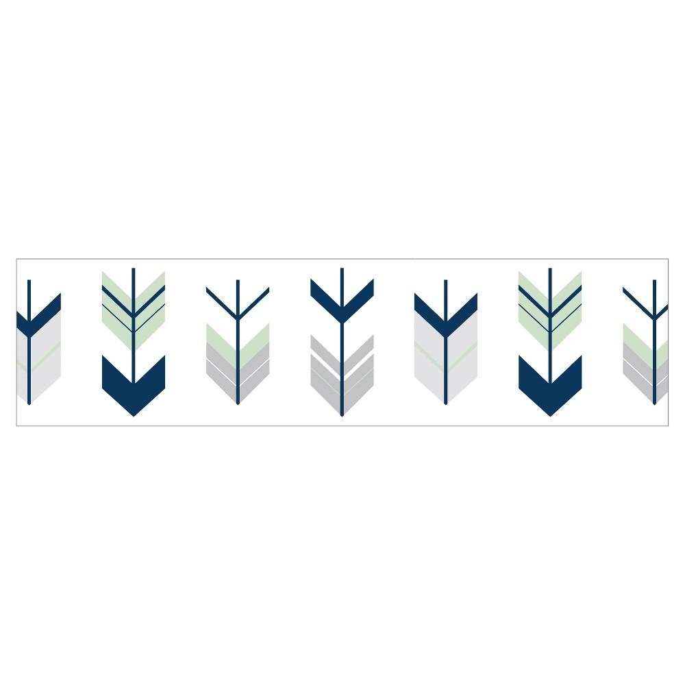 Image of Gray/Mint Mod Arrow Wall Border - Sweet Jojo Designs, Blue Gray