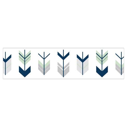 Gray Mint Mod Arrow Wall Border Sweet Jojo Designs