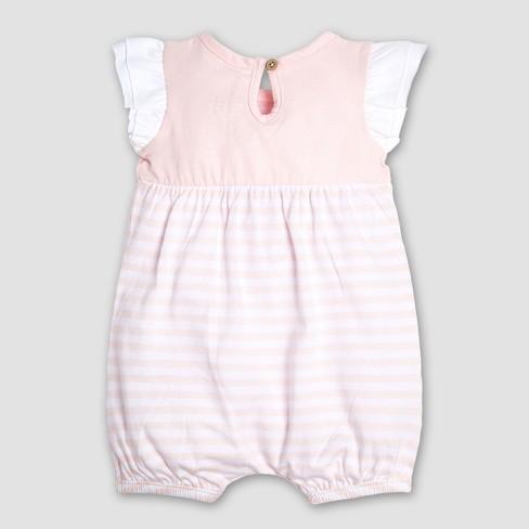 a708ffb7836 Burt s Bees Baby Girls  Infant Organic Cotton 2pk Watercolor Succulent Bubbles  Romper - Gray Pink. Shop all Burt s Bees Baby