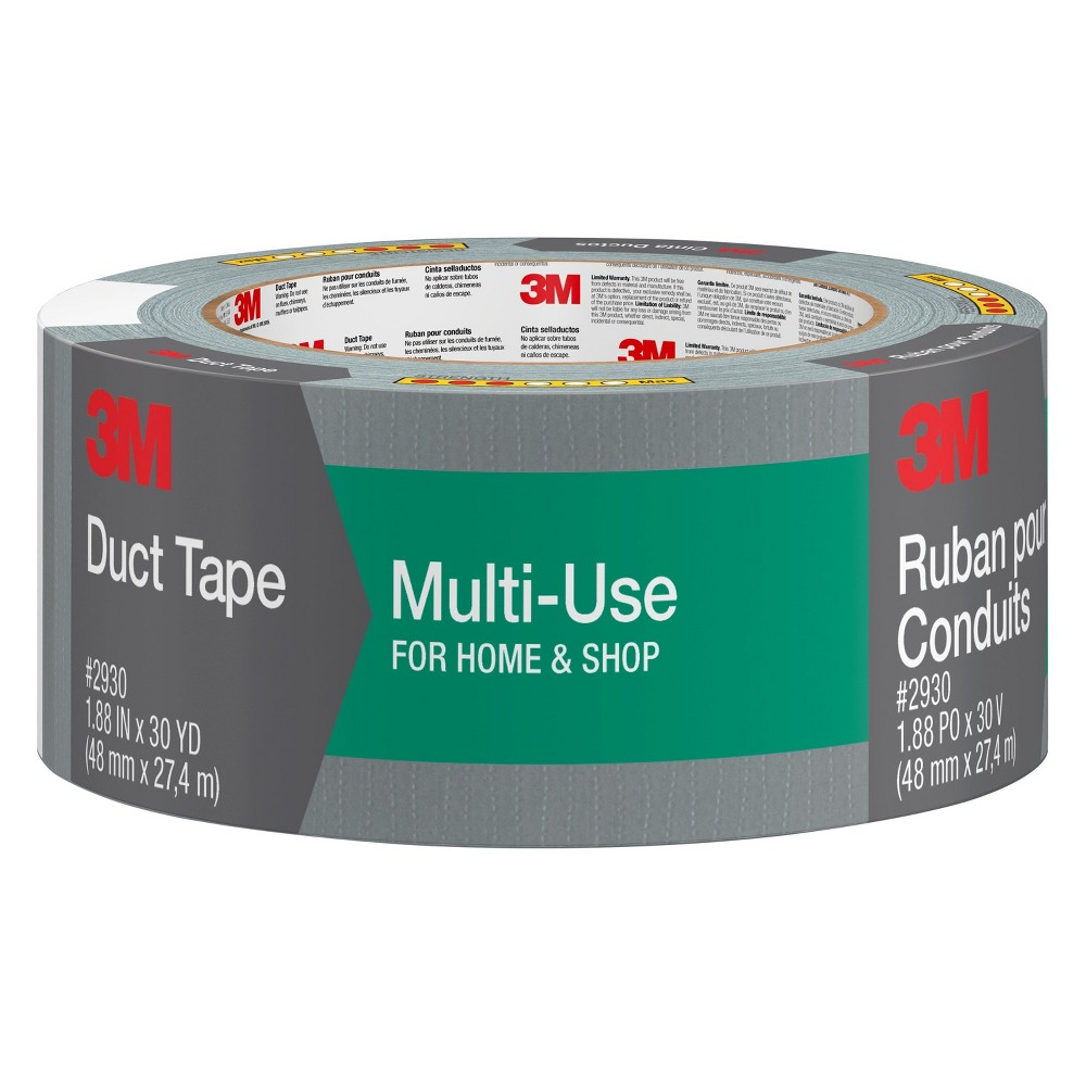 3M Scotch Multi-Use Duct Tape 1.88x30-yd., Gray
