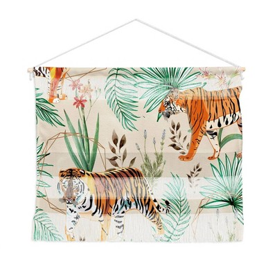 """22"""" x 16"""" Small 83 Oranges Tropical and Tigers Fiber Wall Hanging - Deny Designs"""