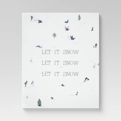 "24"" x 30"" Let It Snow Unframed Wall Canvas - Threshold™"