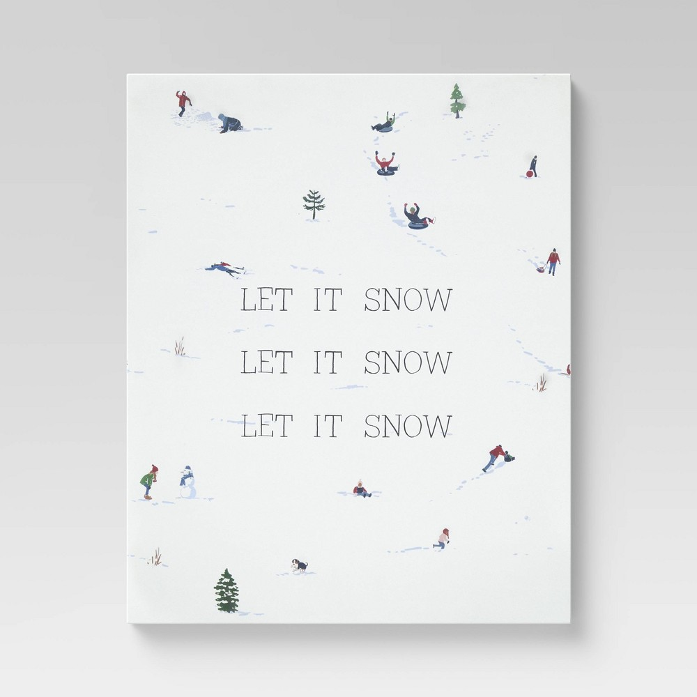 24 34 X 30 34 Let It Snow Unframed Wall Canvas Threshold 8482