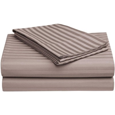 Premium 650-Thread Count Cotton Stripe Deep Pocket Sheet Set - Blue Nile Mills