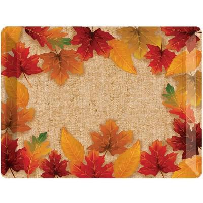 Fall Leaves Plastic Tray