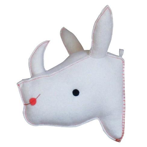 Stuffed Rhino Wall Art - White - Threshold™ - image 1 of 1