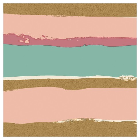 bbbbb8f7039a Tempaper - Kids Painted Stripe Self-Adhesive Removable Borders + Stripes -  Blush   Metallic Gold   Target