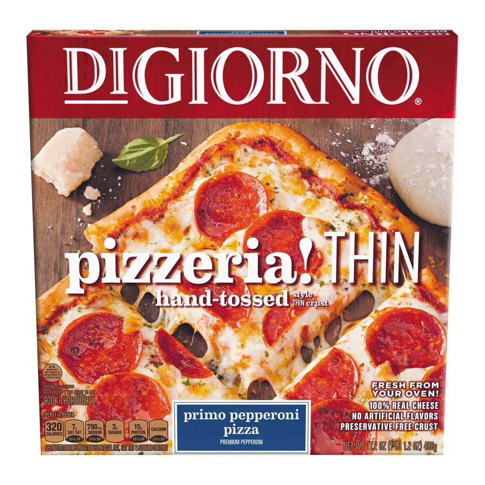 DiGiorno Pizzeria Thin Crust Primo Pepperoni Frozen Pizza - 17.2oz