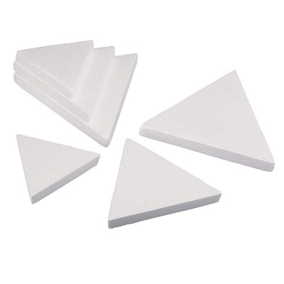 6 Pack Triangle Polystyrene Foam, Painting Activity for Kids, DIY Toy Puzzle, Arts & Crafts Supplies for School Project, 3 Sizes