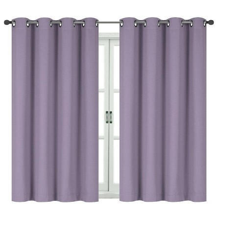Kate Aurora 100% Hotel Thermal Blackout Lavender Grommet Top Curtain Panels - image 1 of 1