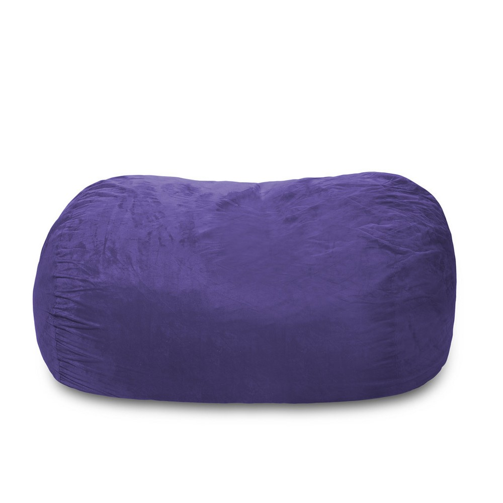 Amazing 6Ft Microsuede Lounger Violet Purple Relax Sacks Andrewgaddart Wooden Chair Designs For Living Room Andrewgaddartcom