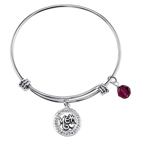 Women's Mom Expandable Bangle in Stainless Steel - image 1 of 2