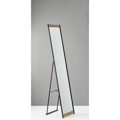 Albert Floor Mirror Veneer Accent Brown, Full Length Floor Mirror Canada