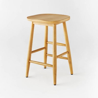 Haddonfield All Wood Backless Counter Height Barstool - Threshold™ designed with Studio McGee