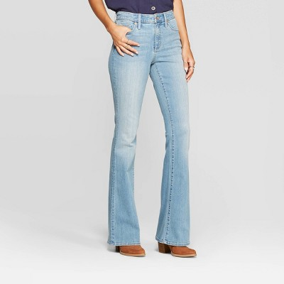 Women's High-Rise Flare Jeans - Universal Thread™ Light Wash