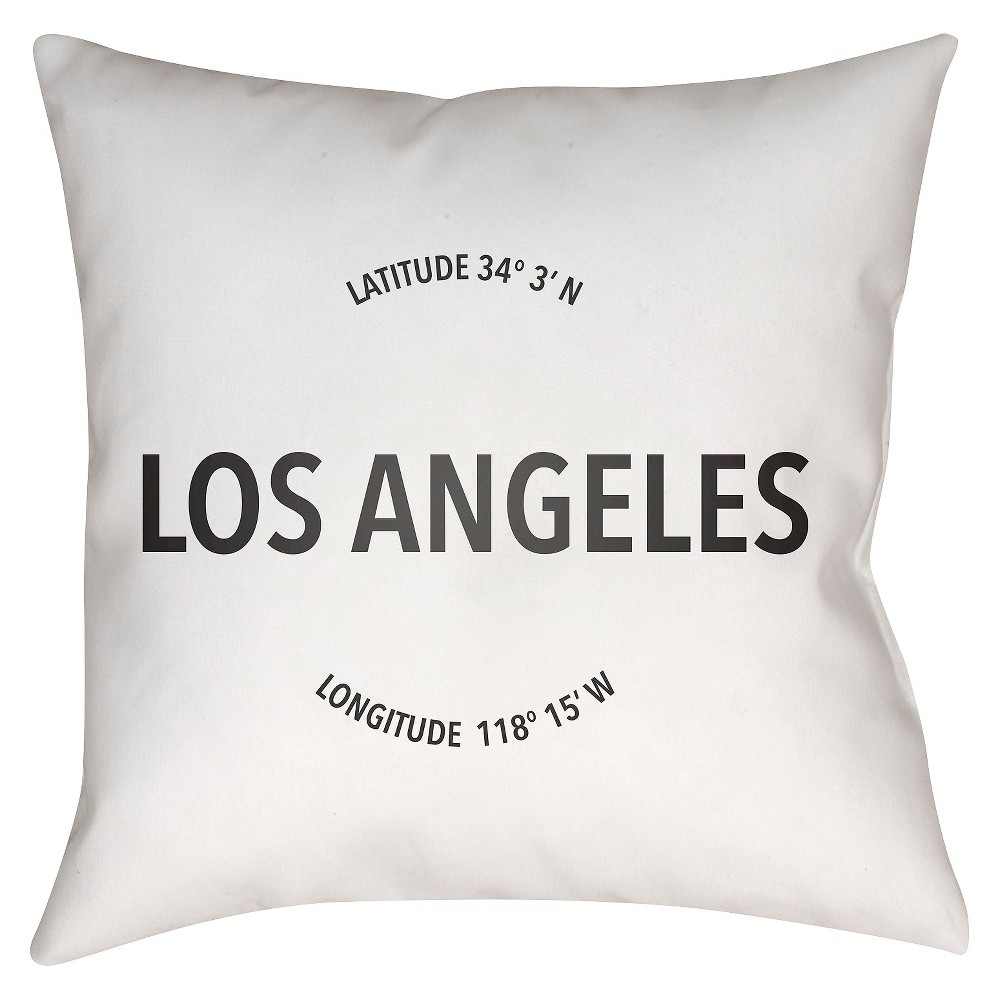 White City Compass Los Angeles Throw Pillow 18