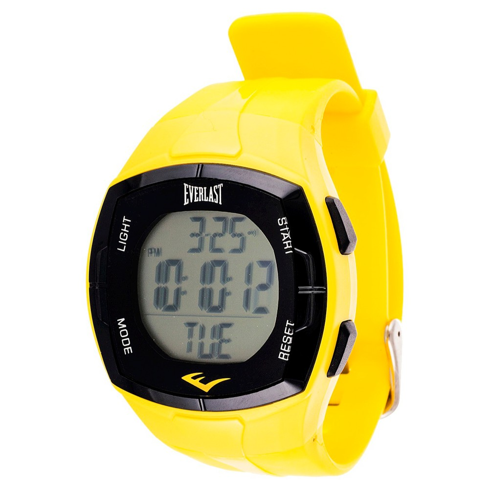 Everlast Heart Rate Monitor Watch with Chest Strap Yellow