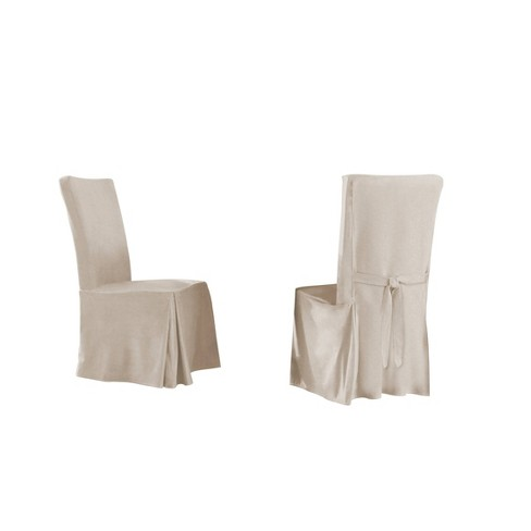 6pk Relaxed Fit Smooth Suede Furniture Dining Chair Slipcover - Serta - image 1 of 2