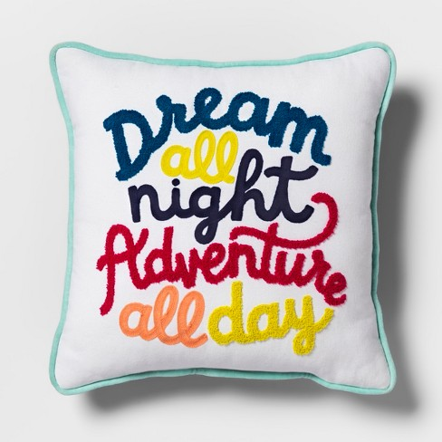 Dream All Night Square Throw Pillow - Pillowfort™ - image 1 of 3