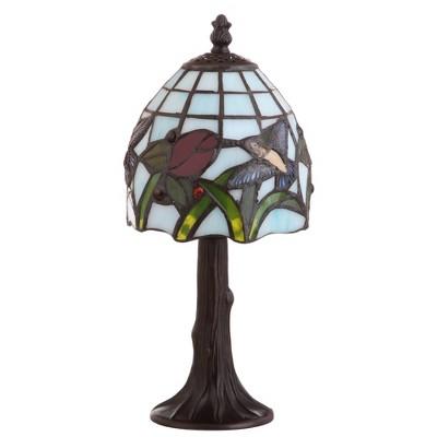 12  Hummingbird Tiffany Style LED Table Lamp Bronze (Includes Energy Efficient Light Bulb)- JONATHAN Y