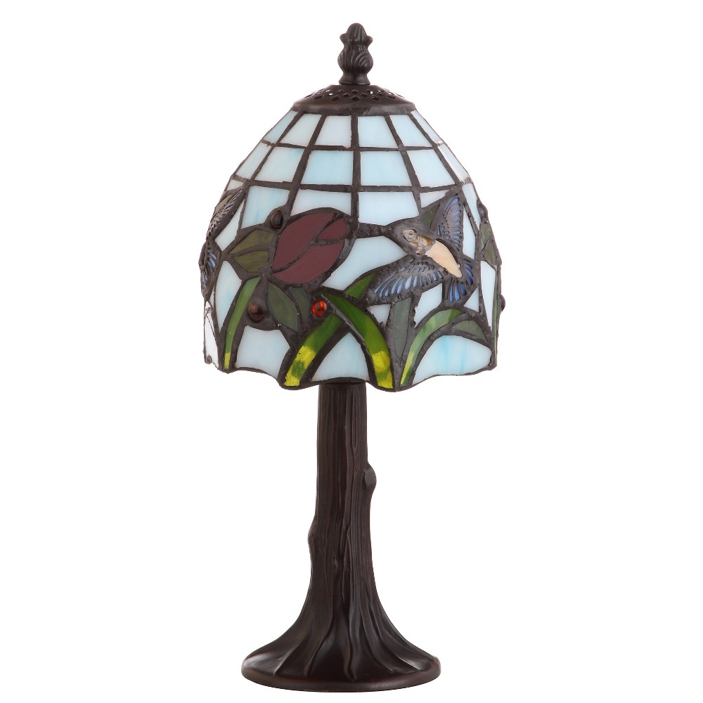 "Image of ""12"""" Hummingbird Tiffany Style LED Table Lamp Bronze (Includes Energy Efficient Light Bulb) - JONATHAN Y"""
