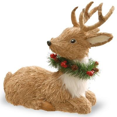 13  Resting Reindeer Decorative Sculpture - National Tree Company