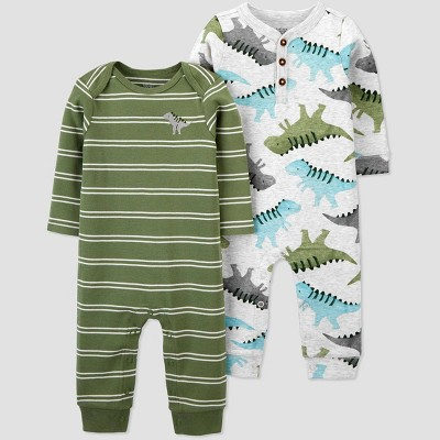Baby Boys' 2pk Dino Jumpsuit - Just One You® made by carter's Green 3M