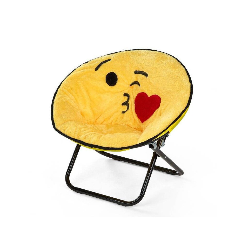 Image of Emoji Adult Saucer Chair - Idea Nuova