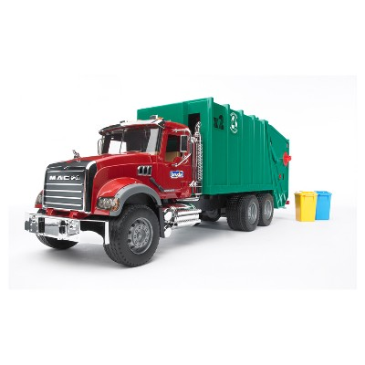 Bruder Toys MACK Granite Garbage Truck - 1/16 Scale Realistic, Functional Toy Garbage Collection Vehicle