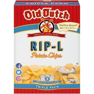 Old Dutch Triple Pack Rip-L Potato Chips - 3ct