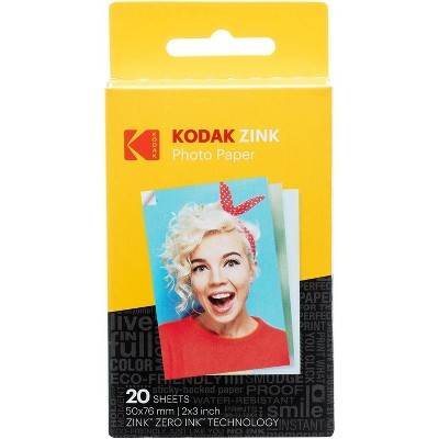 "Kodak 2""x3"" Premium Zink Photo Paper  Compatible with Kodak Smile, Kodak Step, PRINTOMATIC"