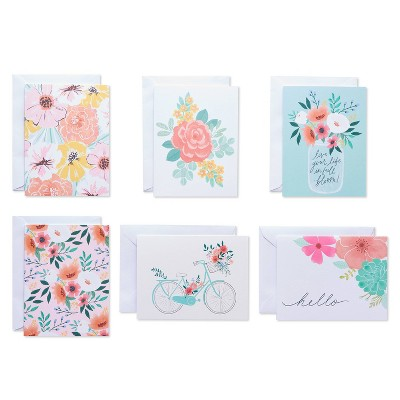 50ct Blank Cards with Envelopes Floral