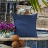 2pk Canvas Texture Square Outdoor Throw Pillows - Arden Selections - image 2 of 4