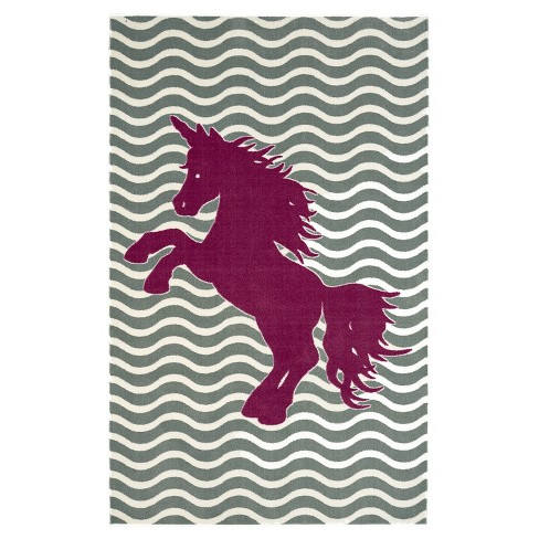Mohawk Majestic Unicorn Royal Area Rug - Blue (5'x8') - image 1 of 3