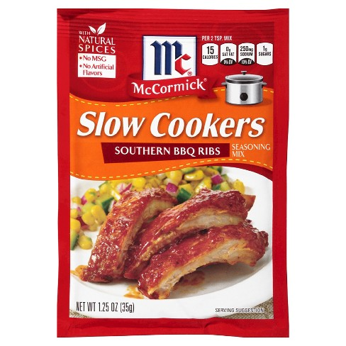 McCormick® Slow Cookers Southern Barbecue Ribs Seasoning Mix 1.25 oz - image 1 of 1