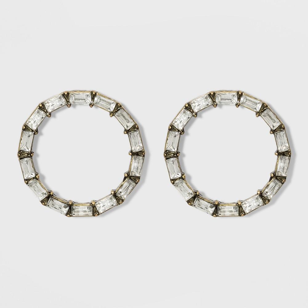 Sugarfix by BaubleBar Crystal Baguette Stud Earrings - Clear, Girl's