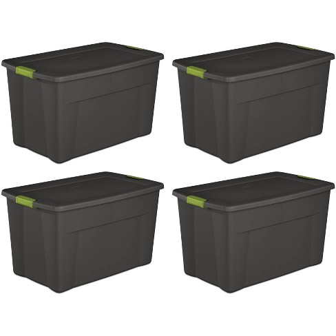 Sterilite 19453V04 35 Gallon Storage Tote Box w/Latching Container Lid (4 Pack) - image 1 of 4