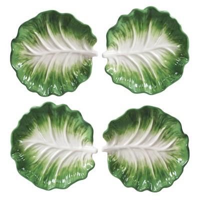 "6"" 4pk Earthenware English Garden Canape Plates - Certified International"