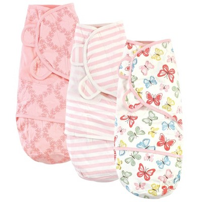 Touched by Nature Unisex Baby Organic Cotton Swaddle Wraps - Butterflies 0-3M