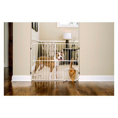 Carlson Big Tuffy Expandable Cat and Dog Gate with Small Door